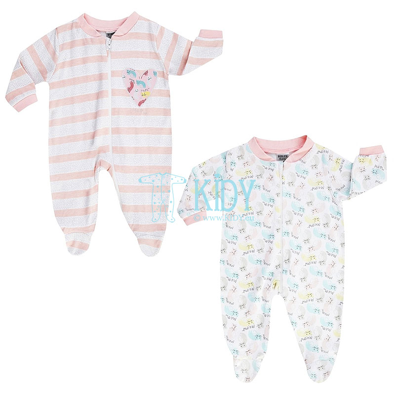 2 pcs MEOW sleepsuit pack