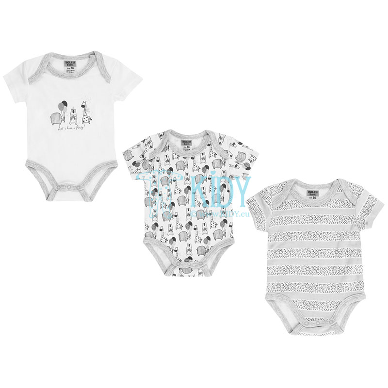 3pcs shortsleeved PARTY bodysuit pack