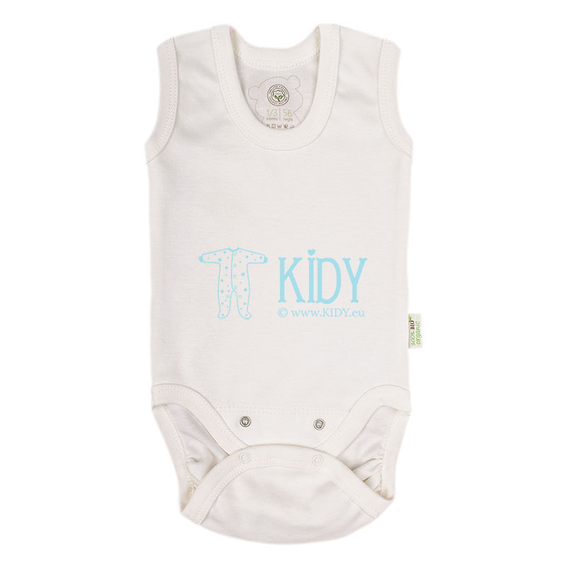 Ecru ORGANIC cotton sleeveless bodysuit