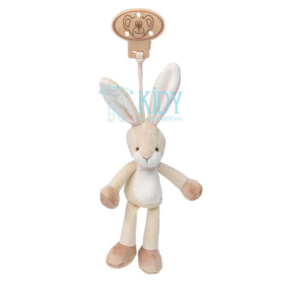Beige Diinglisar Kanin bunny with clip for hanging