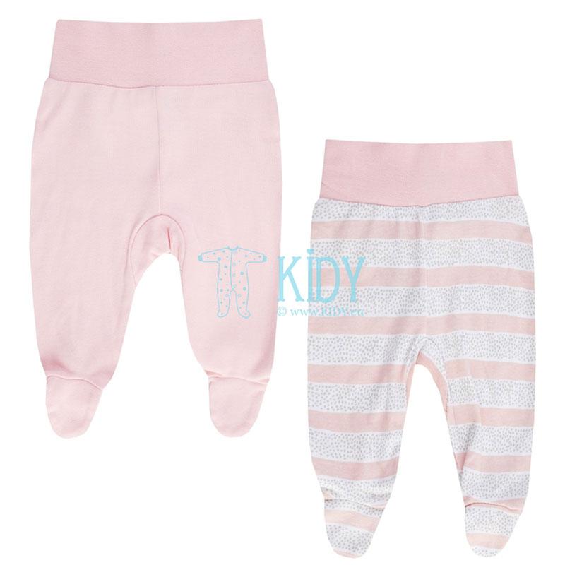 2pcs MEOW footed pants set