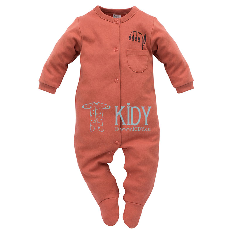 Red Little Bird sleepsuit
