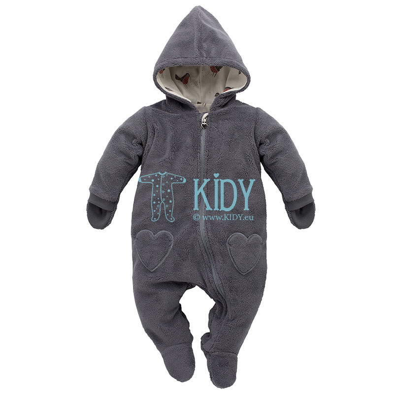 Grey Little Bird snowsuit with mitts
