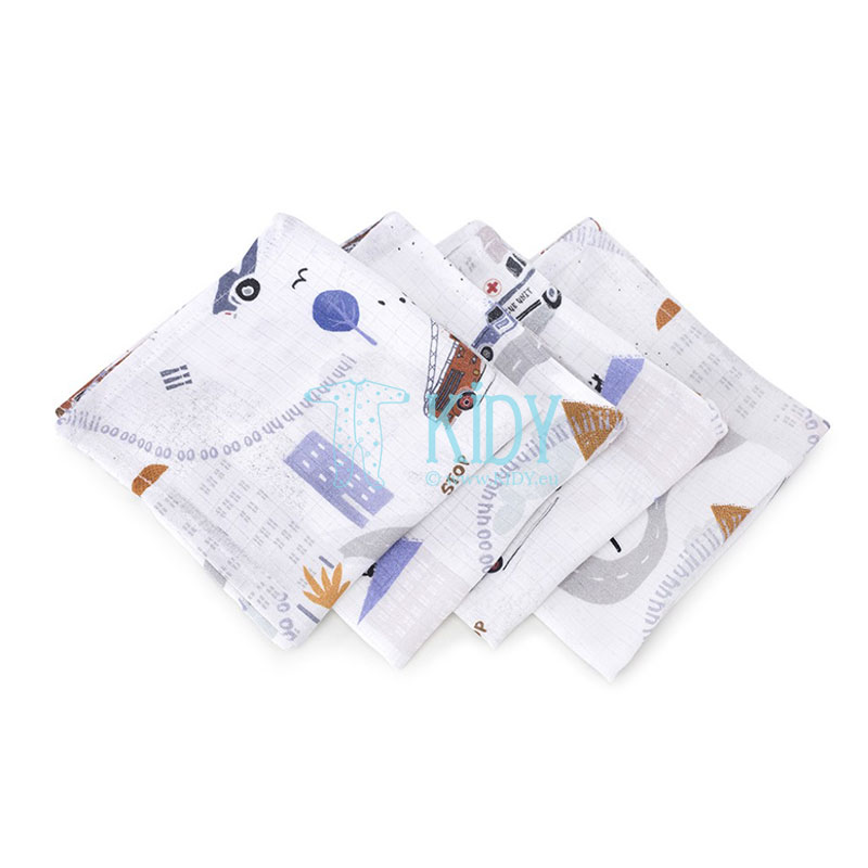 4 pcs muslin bamboo Na Sygnale wash cloths set