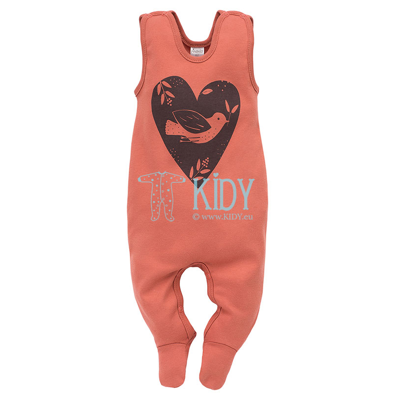 Red Little Bird dungaree