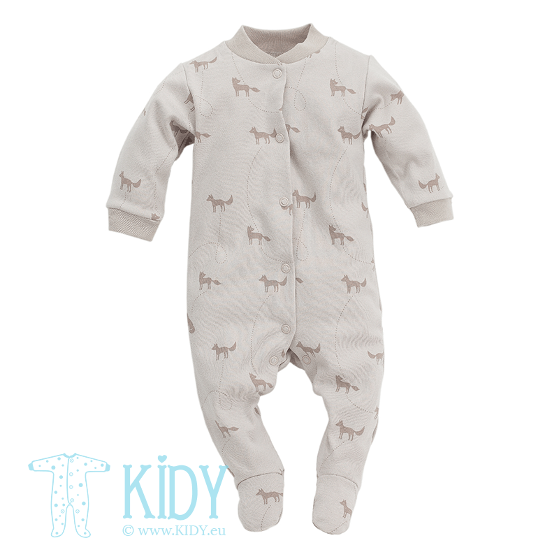 Beige sleepsuit SMART FOX