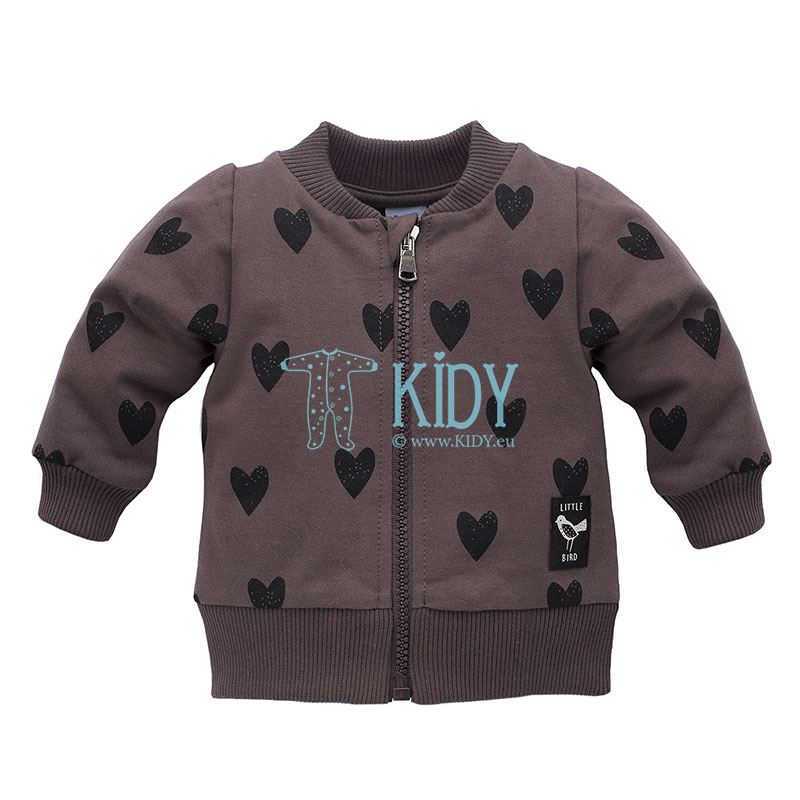 Brown Little Bird zipped jacket