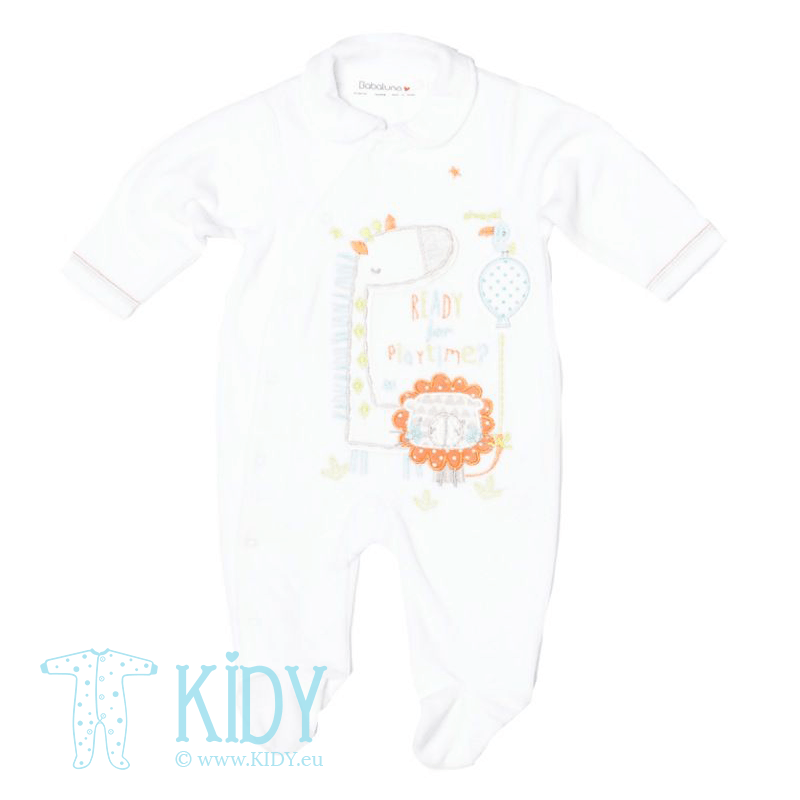 White sleepsuit ZOO (Babaluno)