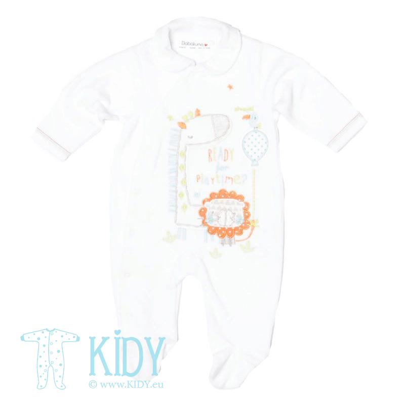 Baltas kombinezonas-pižama ZOO