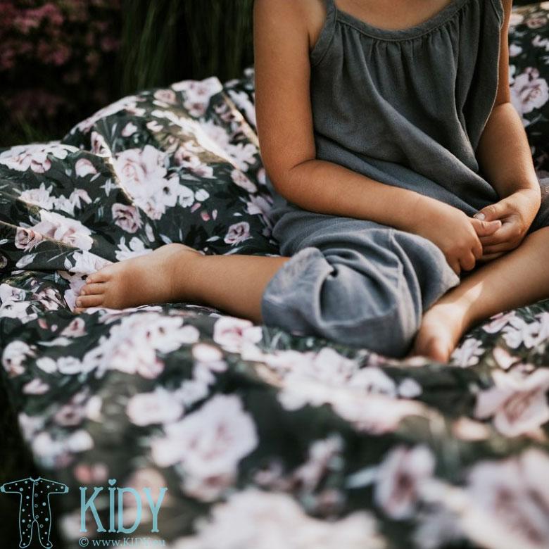 Patalynės komplektas Night Flowers: antklodė + pagalvė (MAKASZKA) 7