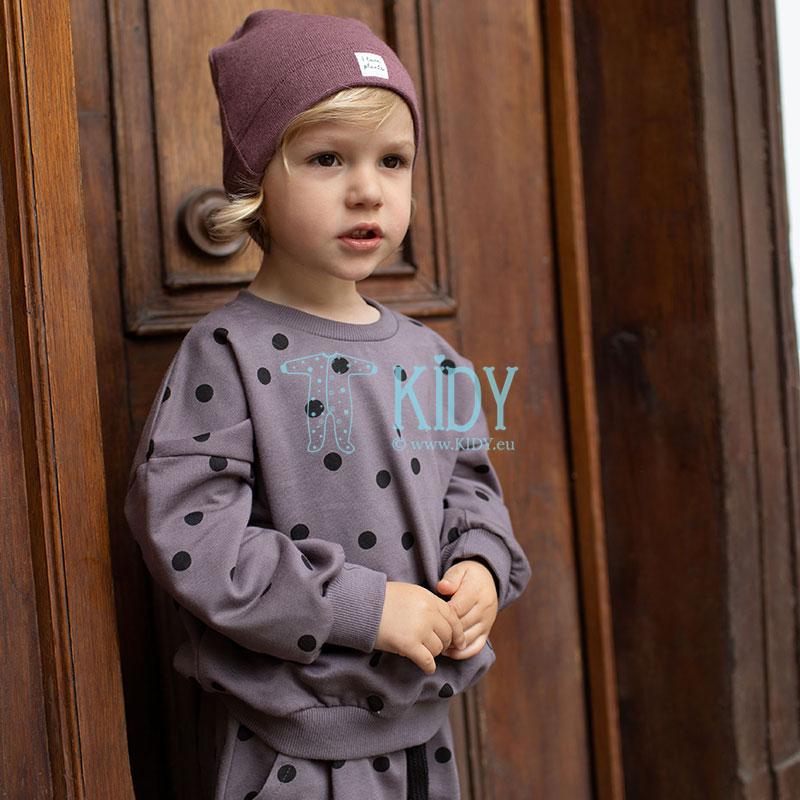 Bordo spalvos megzta kepurė JULIA (Pinokio) 7