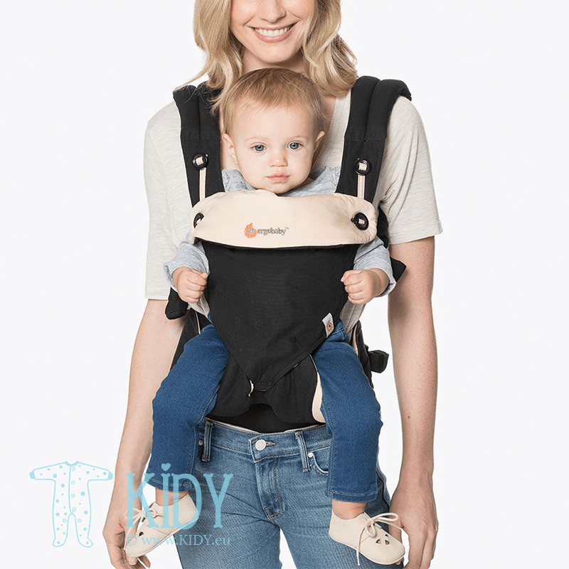Nešioklė ALL POSITION 360 Black/Camel (ErgoBaby) 7