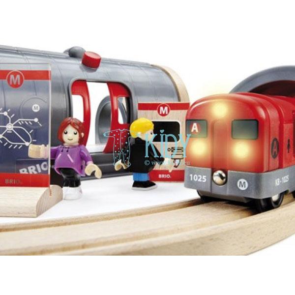 Rinkinys su traukinio bėgiais Metro railway (Brio) 7