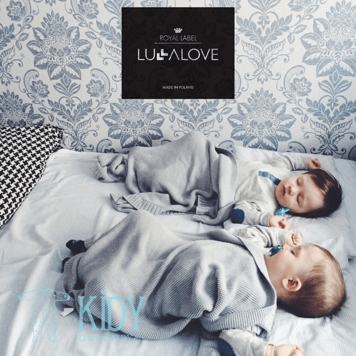 Pilkas megztas pledas ROYAL LABEL (Lullalove) 7