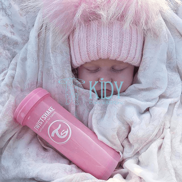 Розовая бутылочка для кормления ANTI-COLIC LIGHT PINK (Twistshake) 7