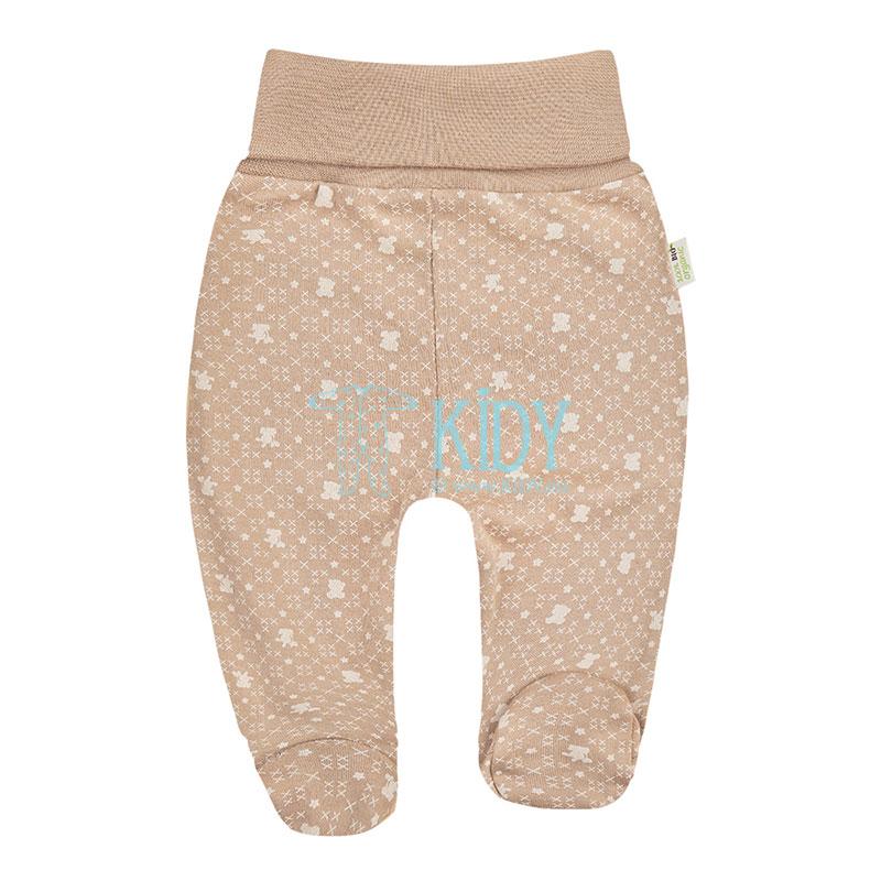 9 pcs brown ORGANIC unisex baby layette set for newborns (BIO Baby) 7