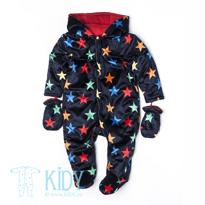 Dark blue snowsuit BLAST with mitts