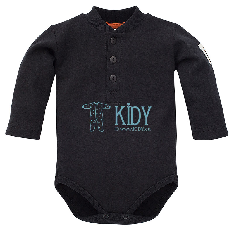 Black THE BEARS CLUB polo bodysuit