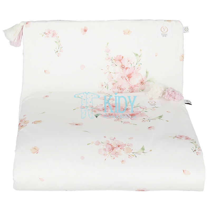 Organic cotton Japanese Flowers bedding set: duvlet + pillow