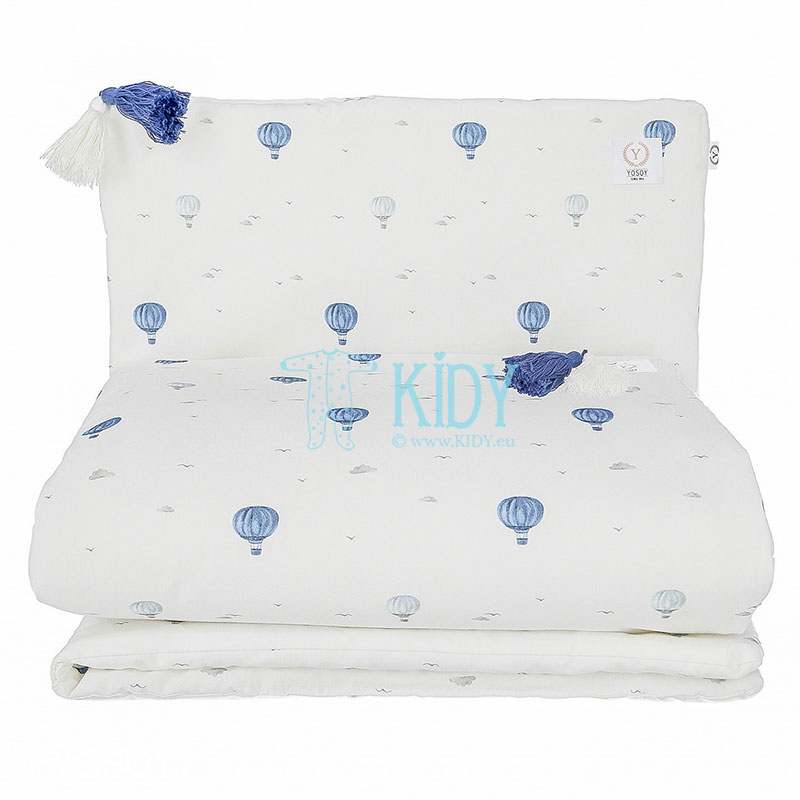 Organic cotton Balloons bedding set: duvlet + pillow