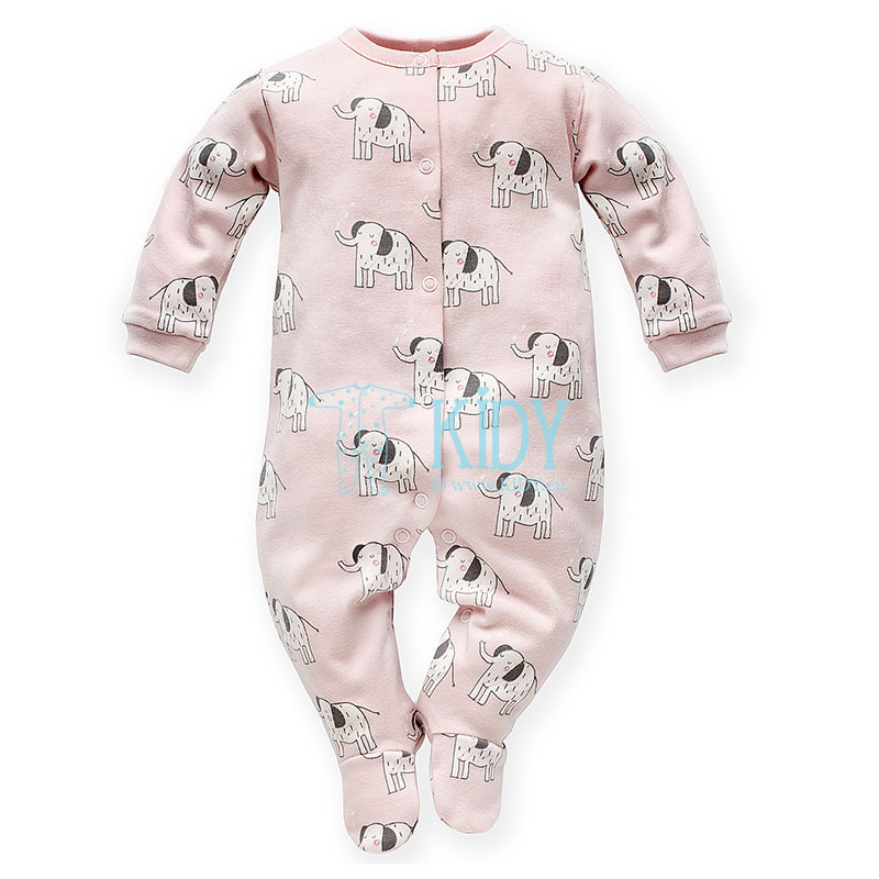 Pink WILD ANIMALS sleepsuit