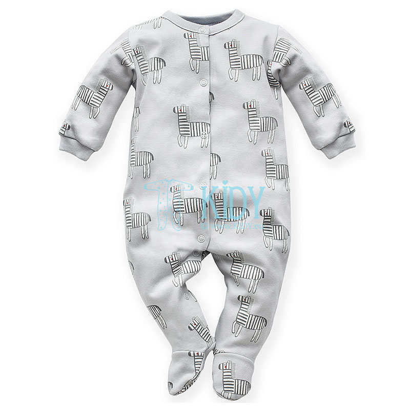 Grey WILD ANIMALS sleepsuit