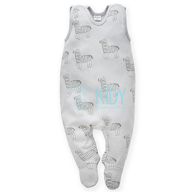 Grey WILD ANIMALS dungaree