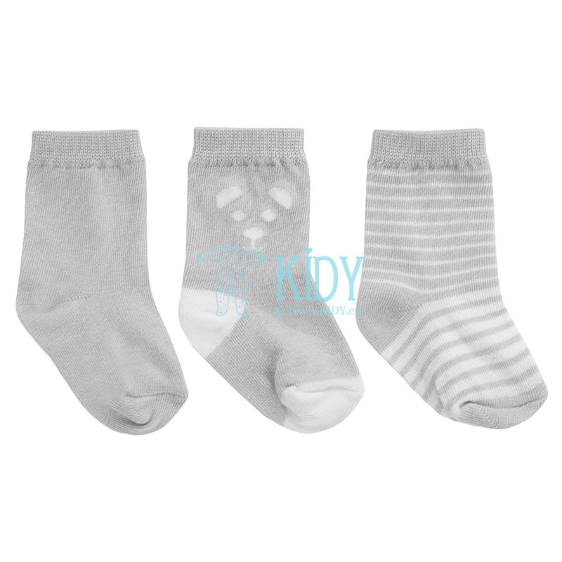 Pilkos kojinytės BEAR, 3 poros (Jacky)