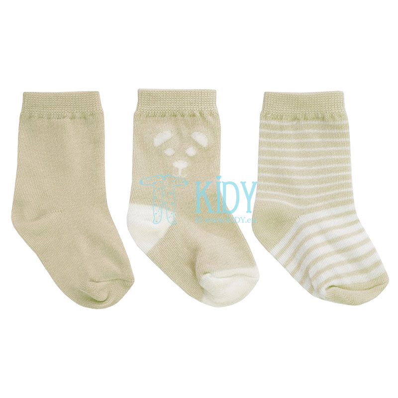 Rusvos kojinytės BEAR, 3 poros