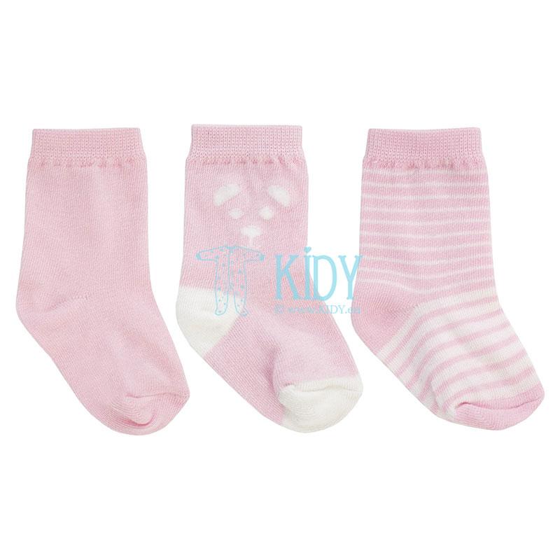 Rožinės kojinytės BEAR, 3 poros