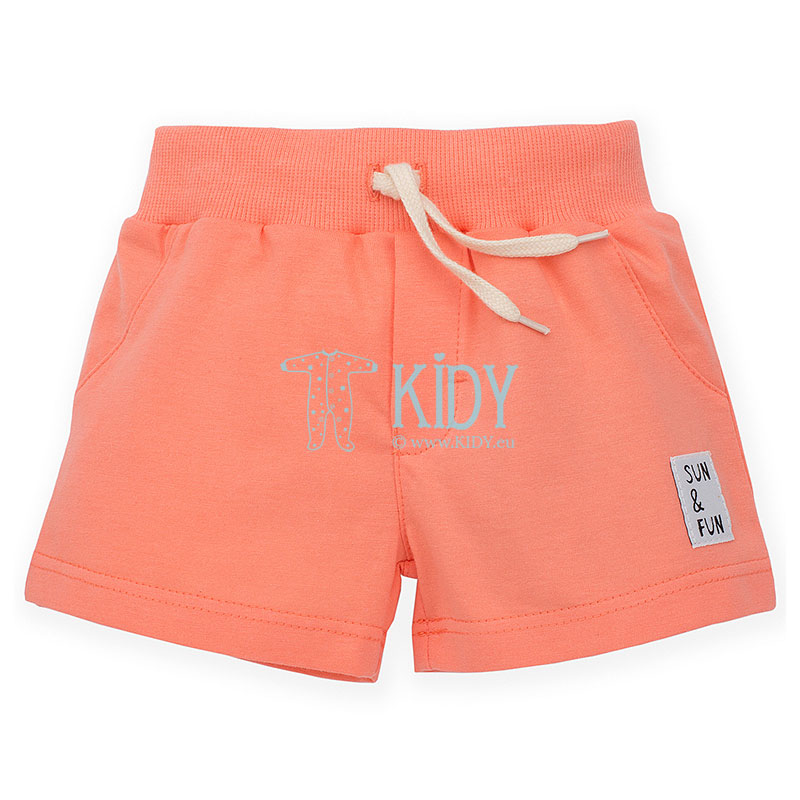 Salmon color SUN & FUN shorts