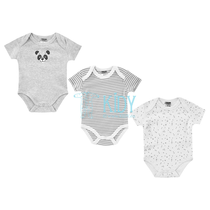 3pcs shortsleeved KOALA bodysuit pack
