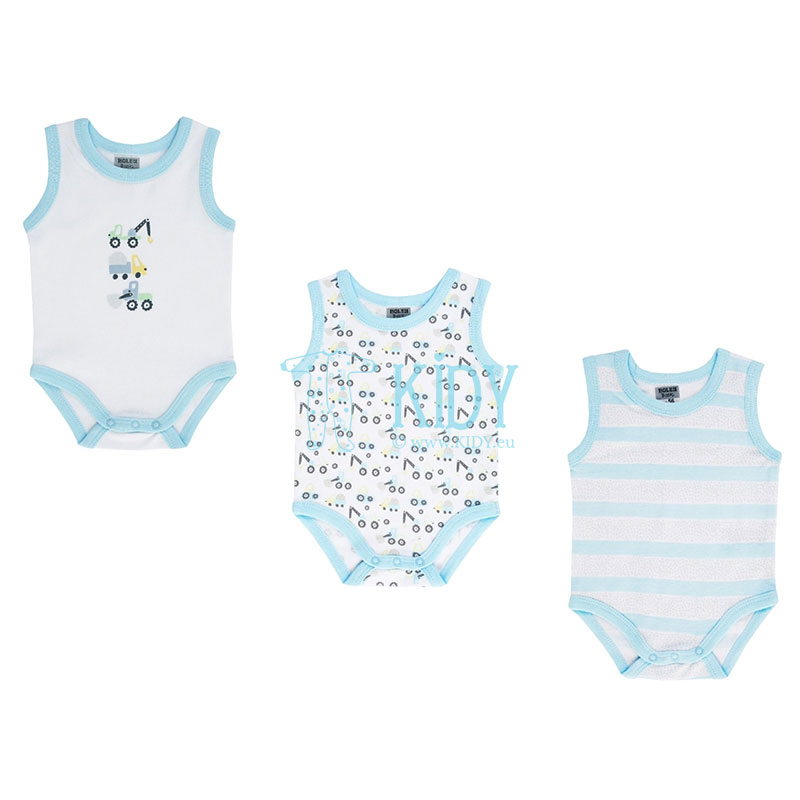 3pcs MECHINERY sleeveless bodysuit pack