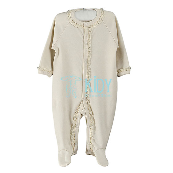 Creamy LULU sleepsuit with lace