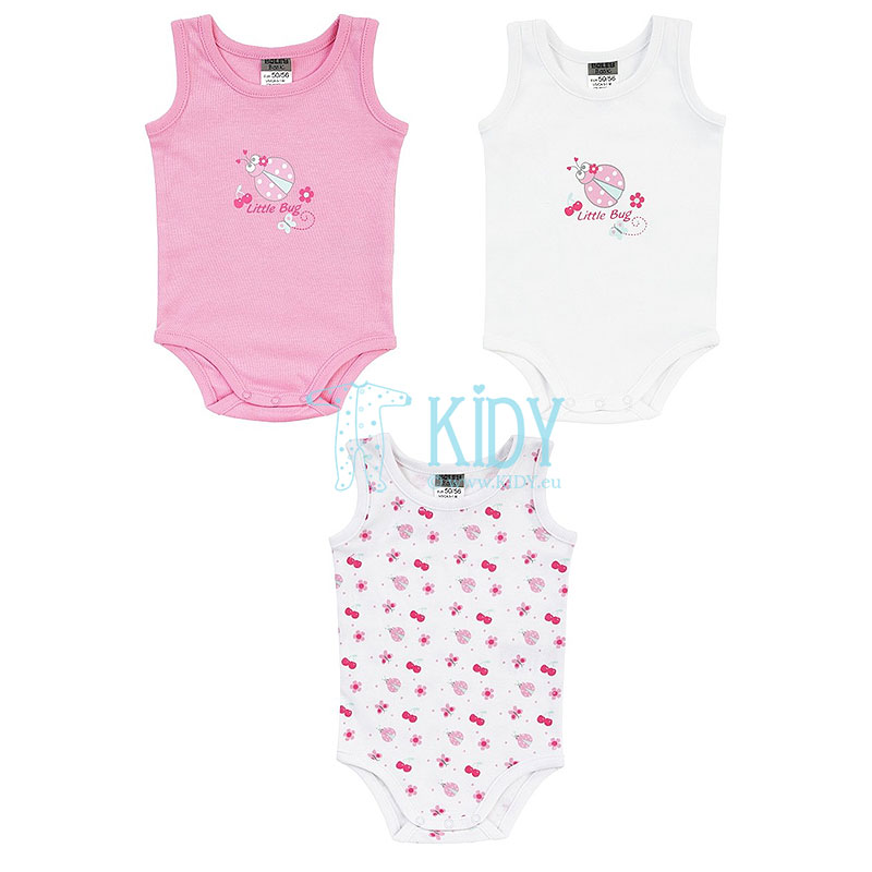 3pcs LITTLE BUG sleeveless bodysuit pack