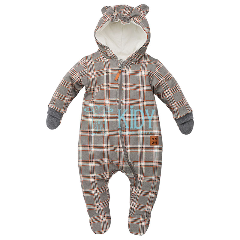 Checkered THE BEARS CLUB snowsuit with mitts