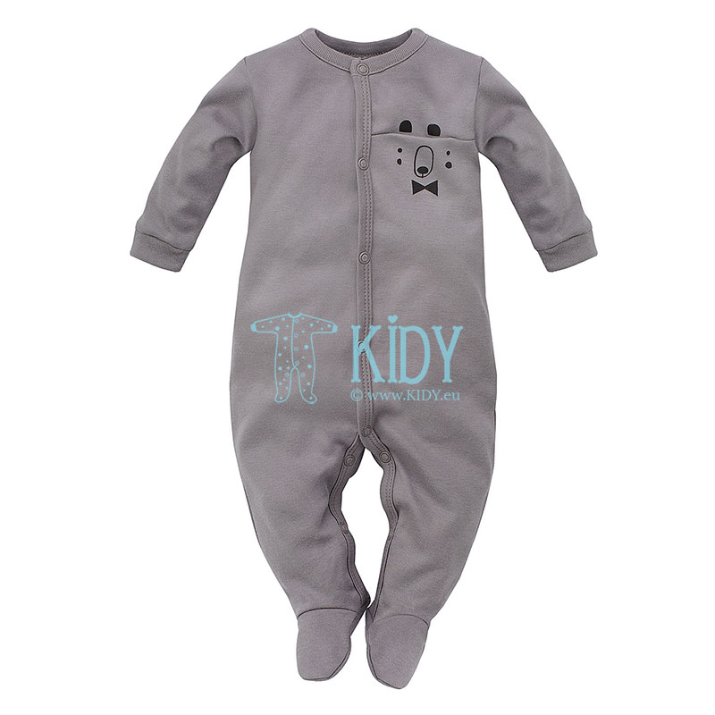 Grey THE BEARS CLUB sleepsuit
