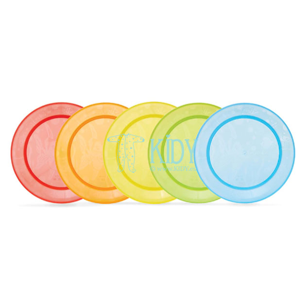 5 pcs MULTI COLOUR plates set