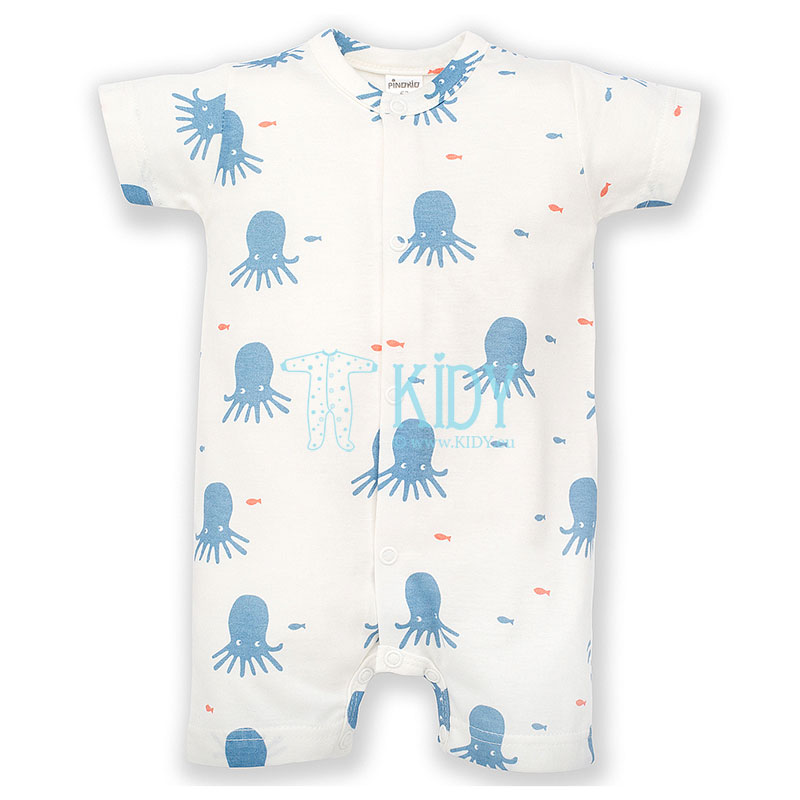 Ecru SUN & FUN romper with octopuses