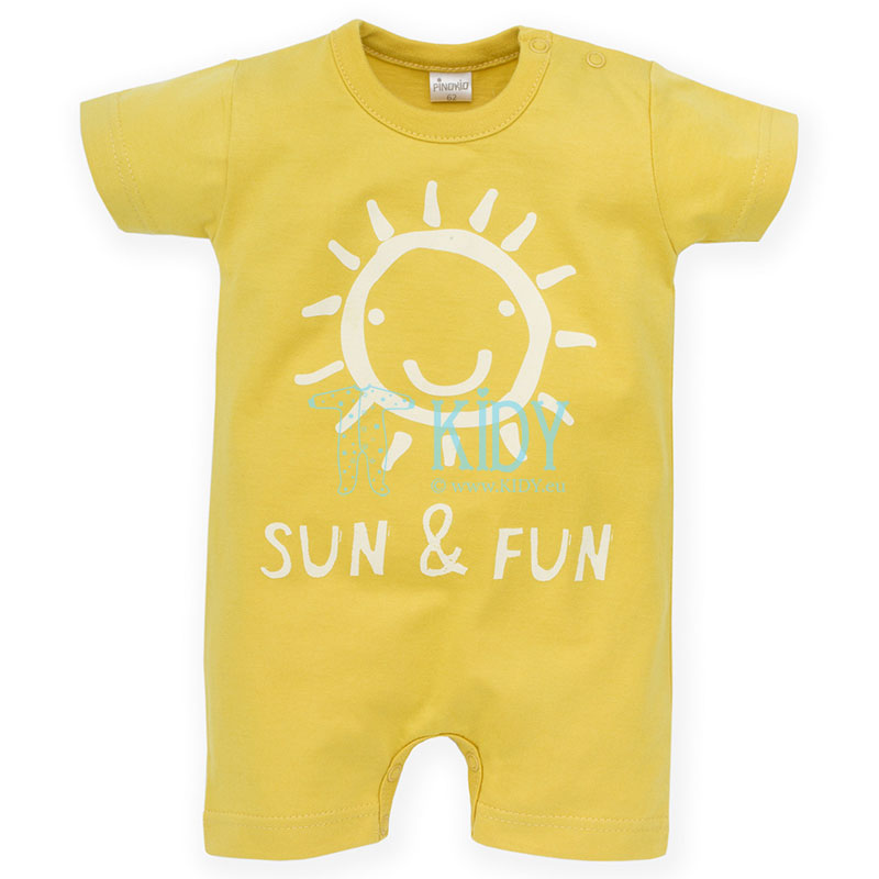 Gold SUN & FUN romper