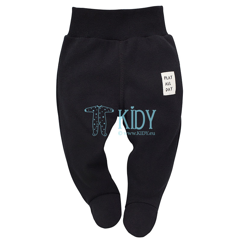 Black THE BEARS CLUB footed pants