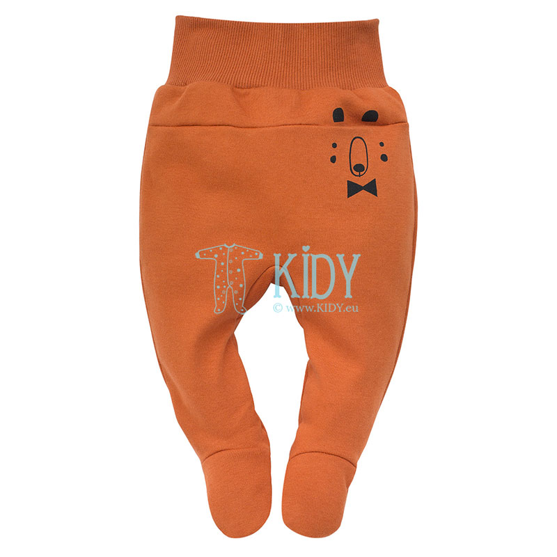 Brown THE BEARS CLUB footed pants