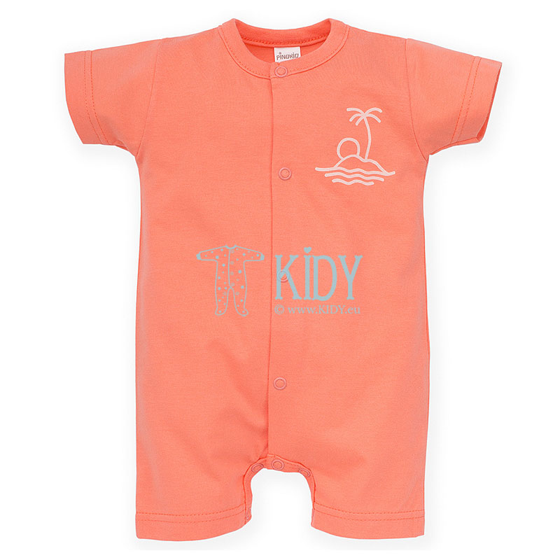 Salmon color SUN & FUN romper
