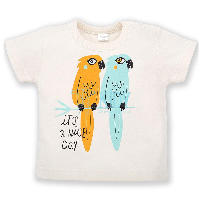 Ecru marškinėliai NICE DAY