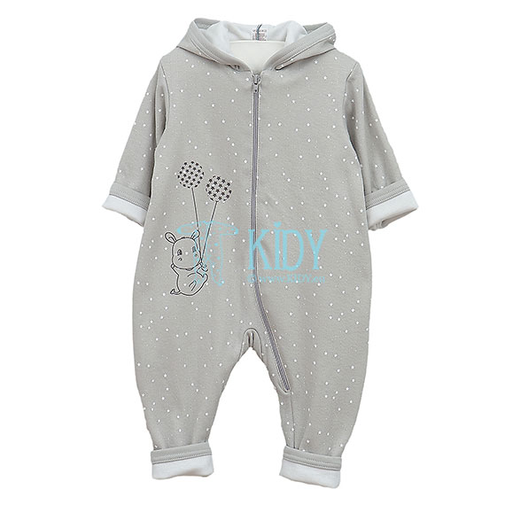 Grey HIPPO double playsuit