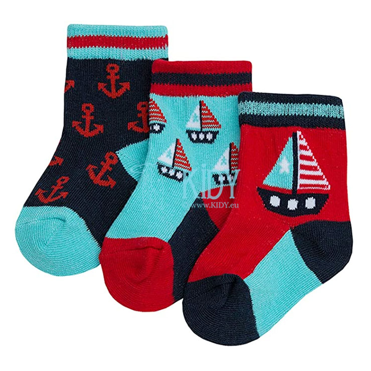 3 pack Boat & Sail socks