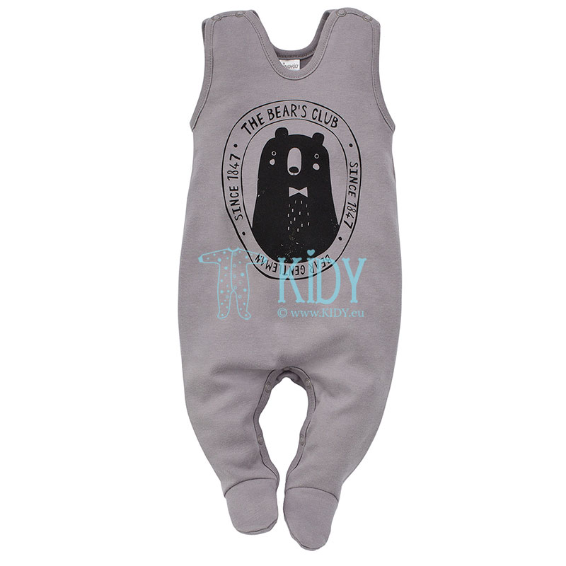 Grey THE BEARS CLUB dungaree
