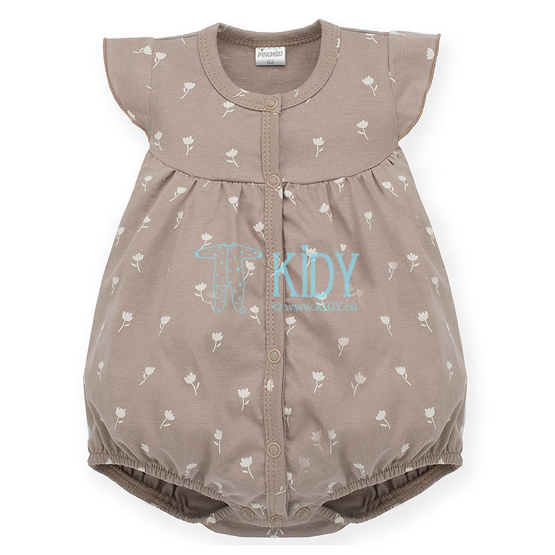 Brown TINY FLOWERS romper