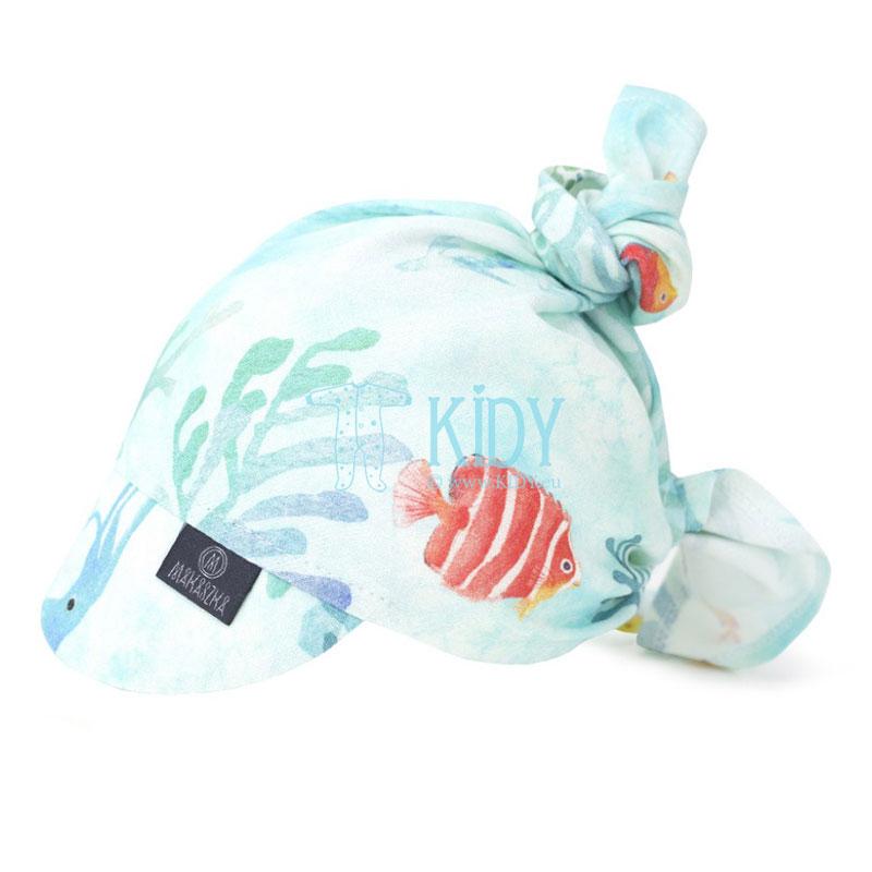 Ocean bandanna with visor