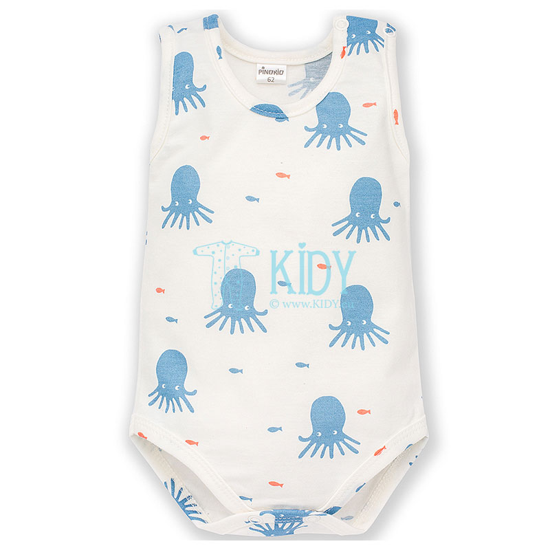 Ecru SUN & FUN sleeveless bodysuit